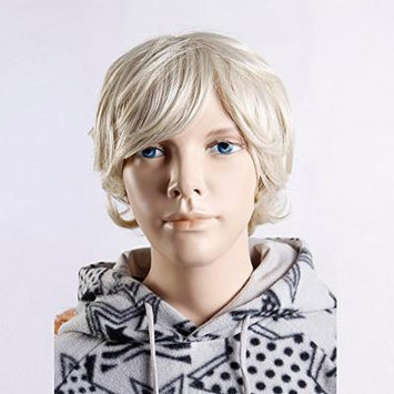 (WG-BC05-24B-613) Child Wig, short hair style. Light Blonde Color.