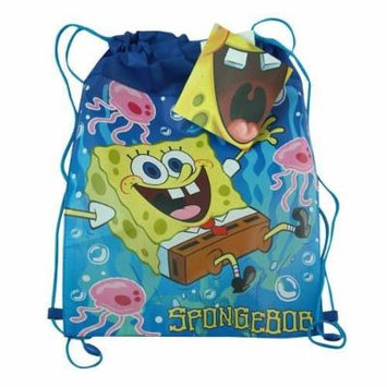 Spongbob Blue Non Woven Sling Bags