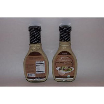 Certified Organic Classic Creamy Italian Dressing 8 ounce Bottle (Set of 2 Bottles)