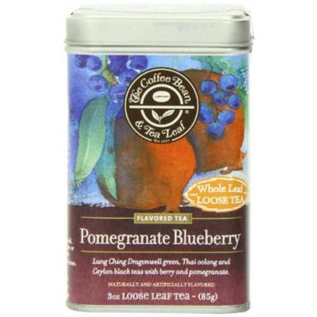 The Coffee Bean & Tea Leaf Pomegranate Blueberry Green, Oolong, Black Teas, 3 Ounce Loose Tea