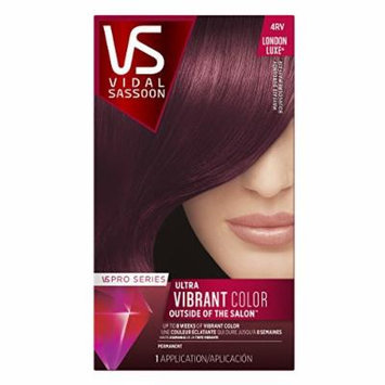 Vidal Sassoon Pro Series London Luxe Hair Color Kit, 4RV Mayfair Burgundy