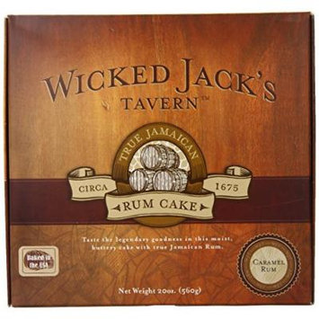 Wicked Jack's Tavern Jamaican Rum Cake, Caramel, 20 Ounce