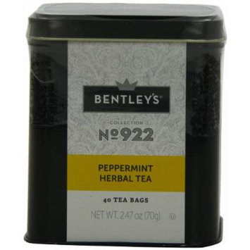 Bentley's Harmony Collection Tin, Peppermint Herbal, 40 Count