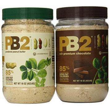 Bell Plantation PB2 Powdered Peanut Butter with PB2 and Premium Chocolate, 16 Ounces, (Pack of 4).