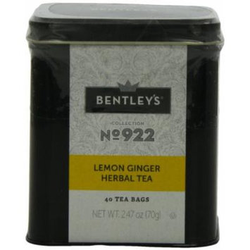 Bentley's Harmony Collection Tin, Lemon Ginger Herbal, 40 Count