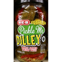 HEB Pickle Me Dilly, Whole Spiced Polish Dills 24 Oz (Pack of 2)