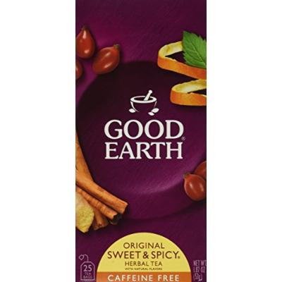 Good Earth Sweet and Spicy All-Natural Caffeine-Free Herbal Tea (2014 version), Pack of 6