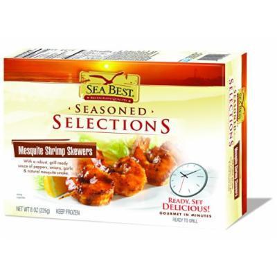 Sea Best Seasoned Selections Mesquite Shrimp Skewers, 8 Ounce