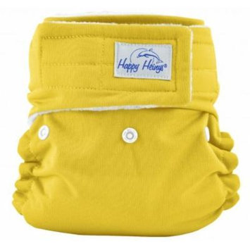 Happy Heinys ONE for ALL One Size Cloth Diaper with Hook & Loop Closure + 2 Microfiber Inserts (Yellow)