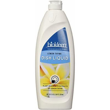 Biokleen Natural Dish Liquid, Lemon Thyme, 25 Ounces (Pack of 6)