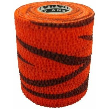 Andover Powerflex 3730 Cohesive Medicinal Tape, 3-Inch/6-Yard, Black/Orange