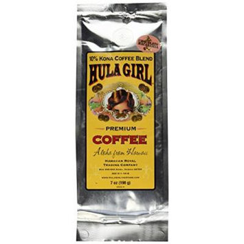 Hula Girl 10% Hawaiian Kona Coffee Blend Chocolate Mac Nut 7oz bag (198g)