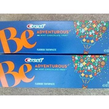 Crest Be Adventurous Mint Chocolate Trek Flavor Toothpaste 4.5 Ounce ( 2 Pack )