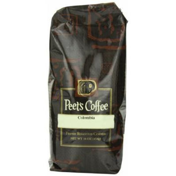 Peet's Coffee & Tea Colombia Ground Coffee, 16-Ounce Bags (Pack of 2)