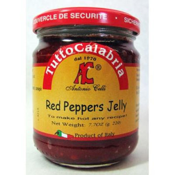 Tutto Calabria Hot Italian Red Peppers Jelly 7.7 Oz.