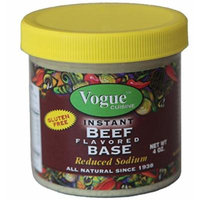 Vogue Cuisine Beef (Vegetarian Beef) Soup & Seasoning Base 4oz - Low Sodium & Gluten Free