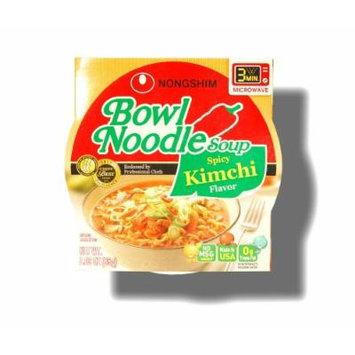 Nongshim Bowl Instant Noodle Soup Assorted Flavors (Spicy Kimchi)