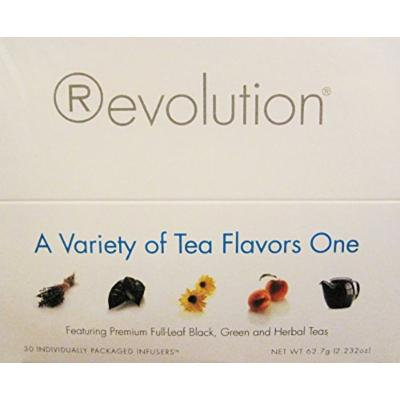 Revolution A Variety of Tea Flavors One, 30-count Tea Bags