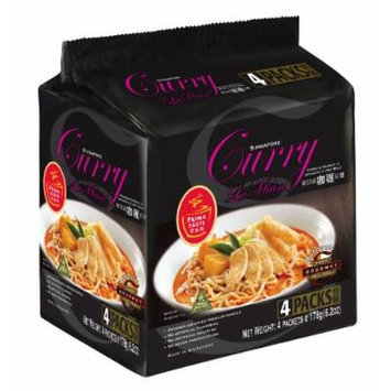 Prima Taste Singapore Curry Lamian Noodles, 4 Packets of 6.2 Ounce