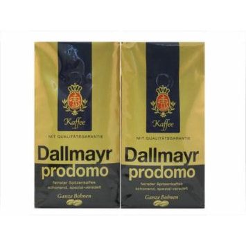 Dallmayr Prodomo Whole Beans Coffee 2 Packs X 17.6oz/500g