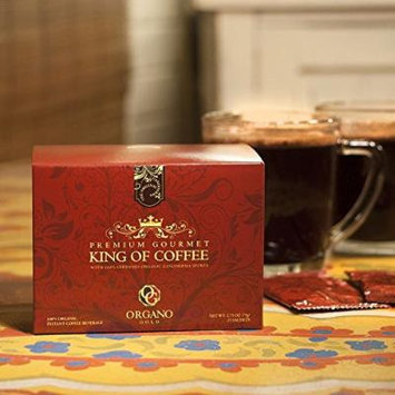5 Boxes Organo Gold Gourmet King of Coffee with Ganoderma Lucidum Extract + Free 5 Sachets Gano Excel Classic Coffee
