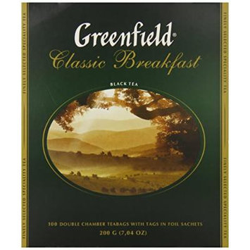 Greenfield Tea, Classic Breakfast, 100 Count