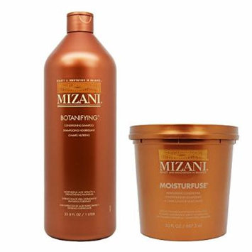 Mizani Botanifying Shampoo 33.8oz & Moisturfuse Conditioner 30oz