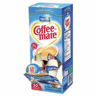SCS Nestlé Coffee-mate - Liquid Creamer Tubs, French Vanilla - 50 Count