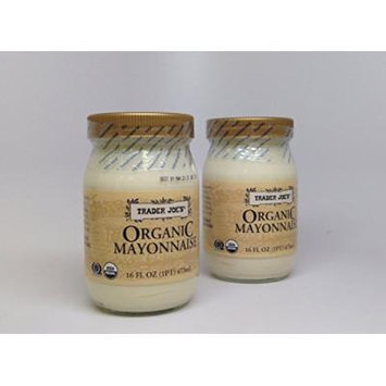 Trader Joe's Organic Mayonnaise (Pack of 2) 16-oz Jars