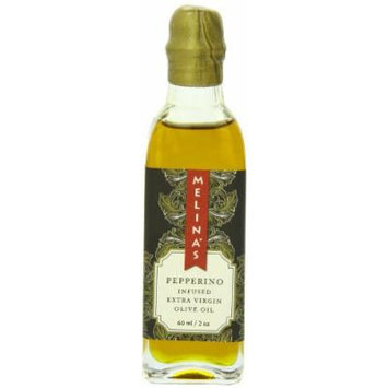 Melina's Extra Virgin Olive Oil, Pepperino Chili Pepper, Garlic and Rosemary Infused, 2 oz.