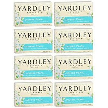 Yardley of London Jasmine Pearl Bath Bar Soap 4.25 oz. (Pack of 8)