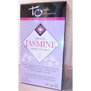 Touch Organic Jasmine Green Tea Bags, 24 count, 1.69 Ounces (1 Box)