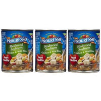 Progresso Reduced Sodium Chicken & Wild Rice, 18.5 oz, 3 pk