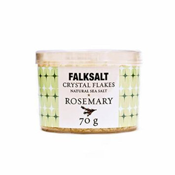 Falksalt Crystal Sea Salt Flakes from Cyprus - Rosemary 70g