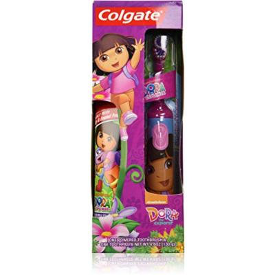 Colgate Kids Dora the Explorer Powered Toothbrush + Toothpaste Combo Pack