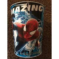 Spiderman Red Blue White Wastepaper Basket Metal Trash Can