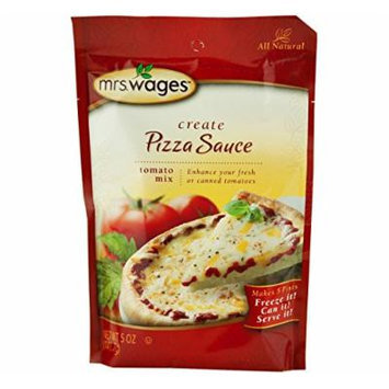 Mrs. Wages Pizza Sauce Tomato Seasoning Mix, 5 Oz. Pouch (Pack of 2)