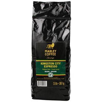 Marley Coffee Whole Bean Coffee, Kingston City Espresso, 2 Pound