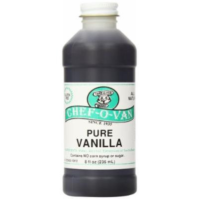 Chef-O-Van Natural Flavoring Extracts, Pure Vanilla, 8 Ounce