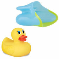 Nuby Shampoo Rinse Cup, Aqua with White Hot Safety Bath Ducky