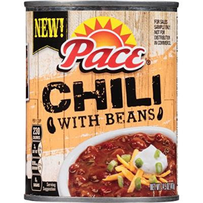 Pace Chili, with Beans, 14.5 Ounce (Pack of 12)