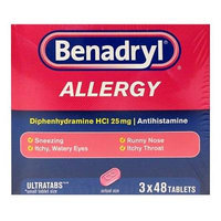 Benadryl Allergy Ultra Tabs - 48 ct. - 3 pk.