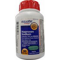 Equate Naproxen Sodium Liquid-Filled Capsules, 220mg (NSAID), 80ct Liquid Gels, Compare to Aleve Liquid Gels