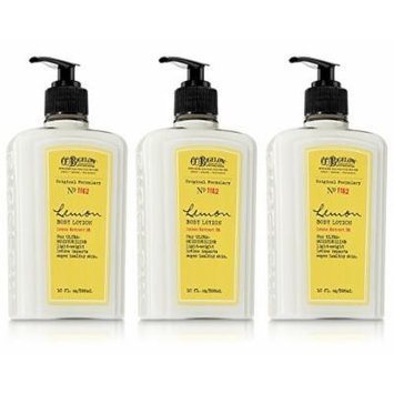 Lot of 3 C.O. Bigelow Lemon Body Lotion 10 Oz.