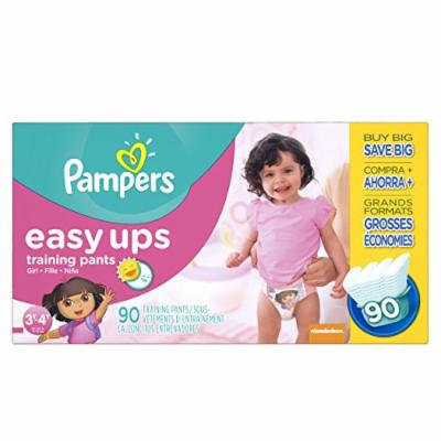 Pampers Girls Easy Ups Training Underwear, 3T-4T (Size 5), 90 Count (Old Version)