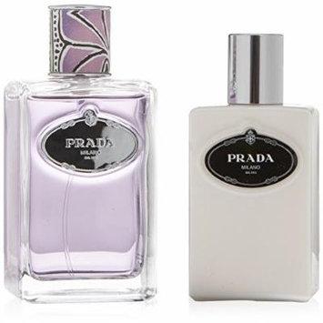 PRADA INFUSION DE TUBEREUSE by Prada Gift Set for WOMEN: EAU DE PARFUM SPRAY 3.4 OZ & BODY LOTION 3.4 OZ