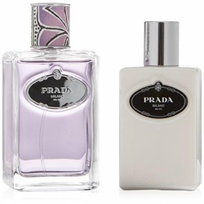 PRADA INFUSION DE TUBEREUSE by Prada Gift Set for WOMEN: EAU DE PARFUM SPRAY 3.4 OZ & BODY LOTION 3.4 OZ