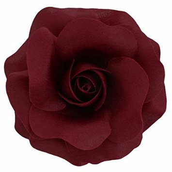 Sara Monica Flower Hair Clip and Pin Rose:Made in the USA (Burgundy)