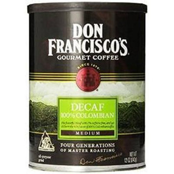 Don Francisco's, 100% Decaf Columbian Coffee, 12oz Can (Pack of 2)
