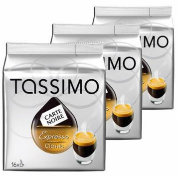 Tassimo Carte Noire Expresso Classic, Lot de 3, 3 x 16 T-Discs